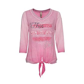 Shirt mit Knoten, hellrosé