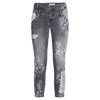 Jeans mit Spitze 62cm, light grey