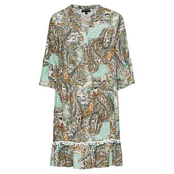 Kleid im Alloverprint, mint