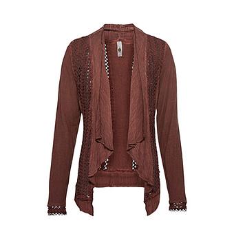 Shirt-Jacke mit Loch-Struktur, savanne