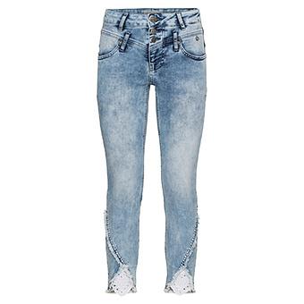 Sweat-Jeans mit Loch-Spitze 64cm, light blue