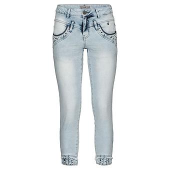 Sweat-Jeans mit Nieten 64cm, bleached