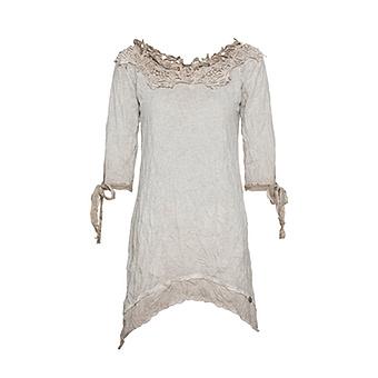 Shirt mit Floral-Applikation, sand