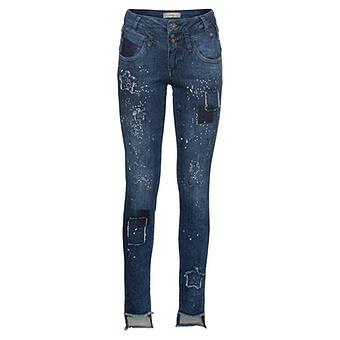 Sweat-Jeans mit Stern-Nieten  82cm, dark blue