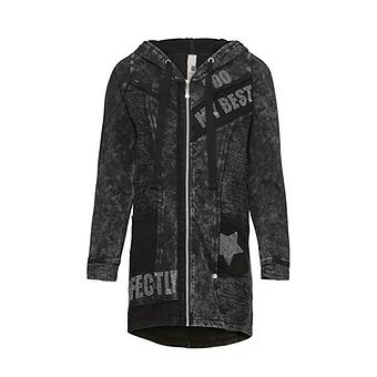 Sweat-Jacke mit Stern und Glitzersteinen, magnet