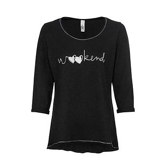 Shirt 'Weekend', schwarz