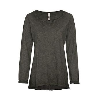 Shirt mit V-Ausschnitt, khaki