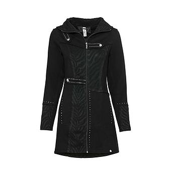 Sweat-Jacke mit Struktur, schwarz