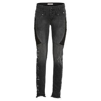 Sweat-Jeans mit Glitzer-Stern, 78cm, black