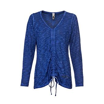 Shirt mit Glitzersteinen, blue glow