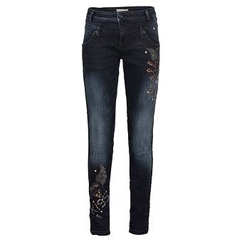 Jeans mit Nieten Liebe 78cm, dark blue