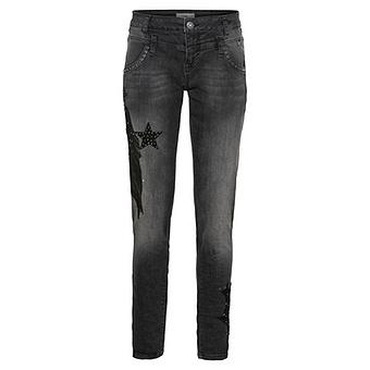 Jeans mit Sternapplikation 78cm, dark grey