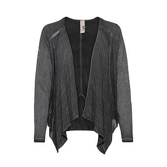 Shirt-Jacke mit Wasserfallkragen, magnet