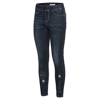 Jeggings Herz Je t'aime 70cm, dark blue denim
