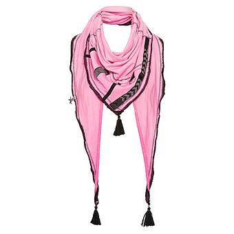 Schal mit Glitzersteinchen, pink glow