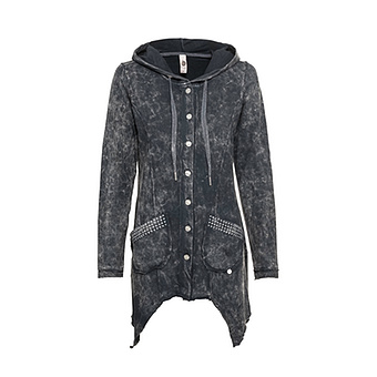 Sweat-Jacke mit Zipfelsaum, magnet