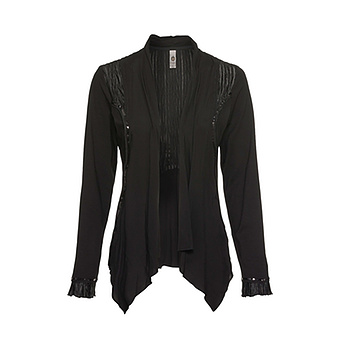 Shirt-Jacke, schwarz