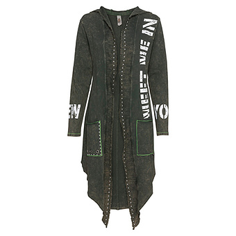 COSY Mantel mit Print, khaki