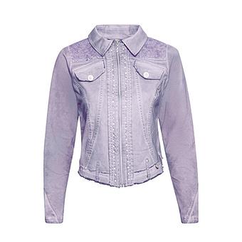 ONLINE EXKLUSIV: Jeansjacke mit Glitzersteinen, lilac