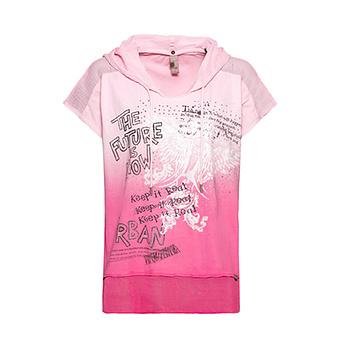 Shirt mit Farbverlauf, pink glow