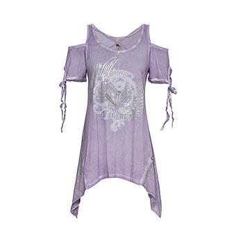 Shirt mit Cut-Outs, lilac