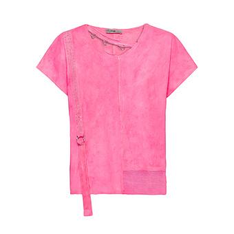 COSY Shirt mit Netz, pink glow