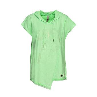 COSY Shirt mit Ziersteinen, green glow