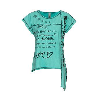 Shirt mit Schriftzügen, ocean