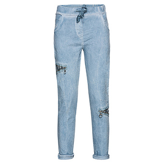 COSY Pant mit Pailletten, blau