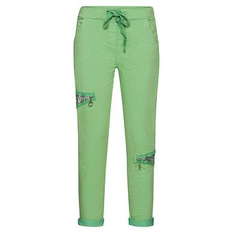 COSY Pant mit Pailletten, green glow
