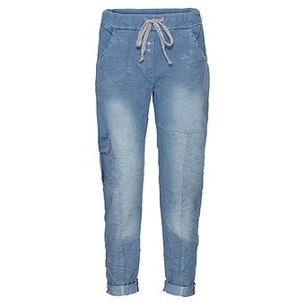 Schlupf-Jeans mit Schimmer 70cm, light blue denim