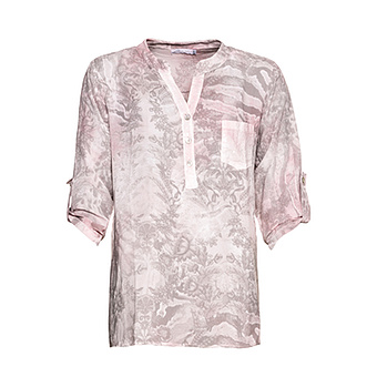 Bluse im Alloverprint, mandelblüte