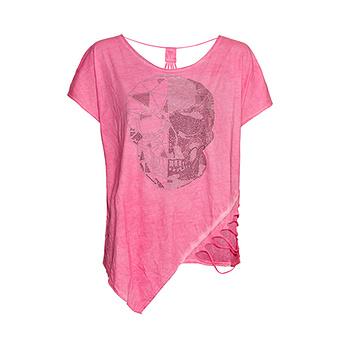 Shirt mit Rückenausschnitt, pink glow
