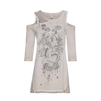 Shirt mit Cut-Outs, sand