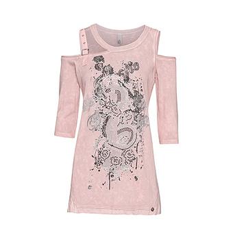 Shirt mit Cut-Outs, rosenholz