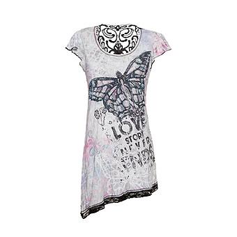 Shirt mit Schmetterling, weiß