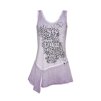 Top mit Animalprint, lilac