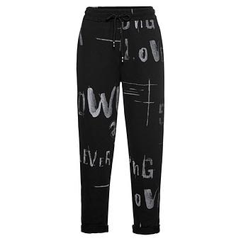 COSY Joggingpant mit Print, schwarz