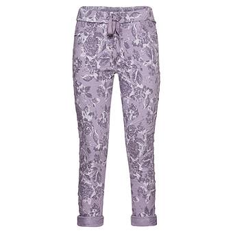 ONLINE EXKLUSIV: COSY Hose im Alloverprint, lilac