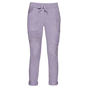 Hose mit Patches, lilac