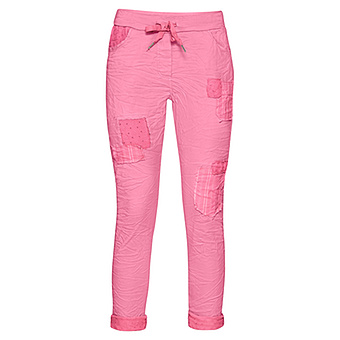 COSY Hose mit Patches, pink glow