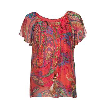 Bluse im Paisley-Print, sorbet