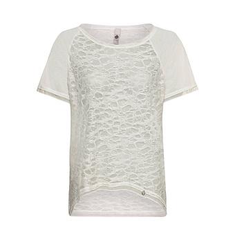 COSY Shirt mit Netz-Optik, sand