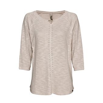 Shirt mit Glitzersteinchen, sand-melange