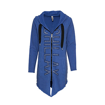 COSY Sweat-Jacke mit Ziersteinen, blue glow