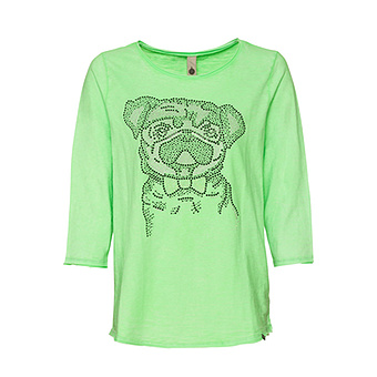 Shirt 'Mops', green glow