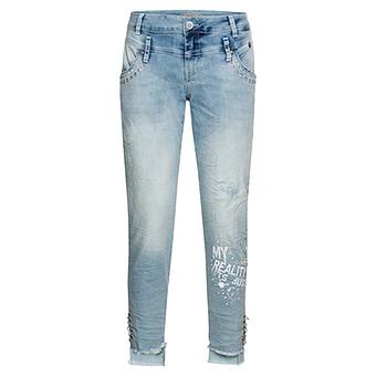 Jeans mit Glitzersteinchen 72cm, light blue denim
