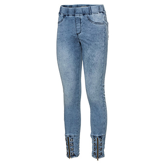 Jeggings mit Reißverschluss 72cm, light blue denim