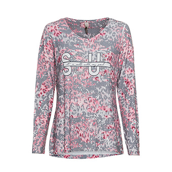 Shirt 'Soul', grau-rose