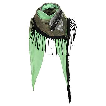 Schal mit Glitzerprint, green glow